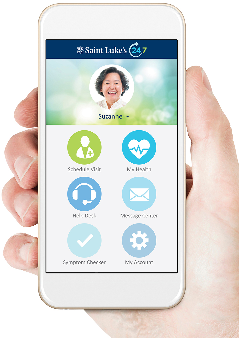 Saint Luke's provides an alternative, affordable option for receiving health care through its mobile app or online service, Saint Luke's 24/7.
