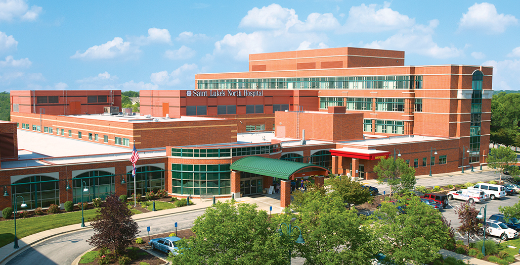 Exterior view of Saint Luke's North Hospital - Barry Road in Kansas City, Missouri