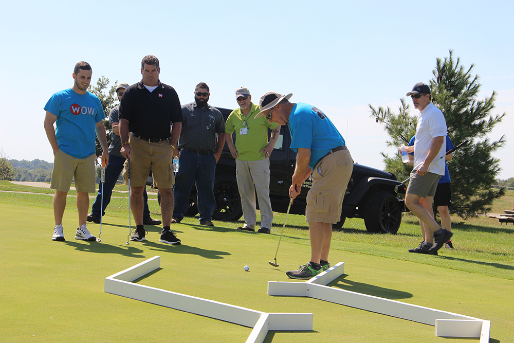 Golfers participate in the Hedrick Medical Center Golf Skills Challenge