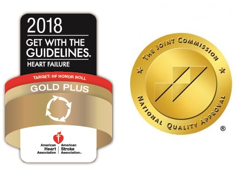American Heart Association's Get with the Guidelines and The Joint Commission logos
