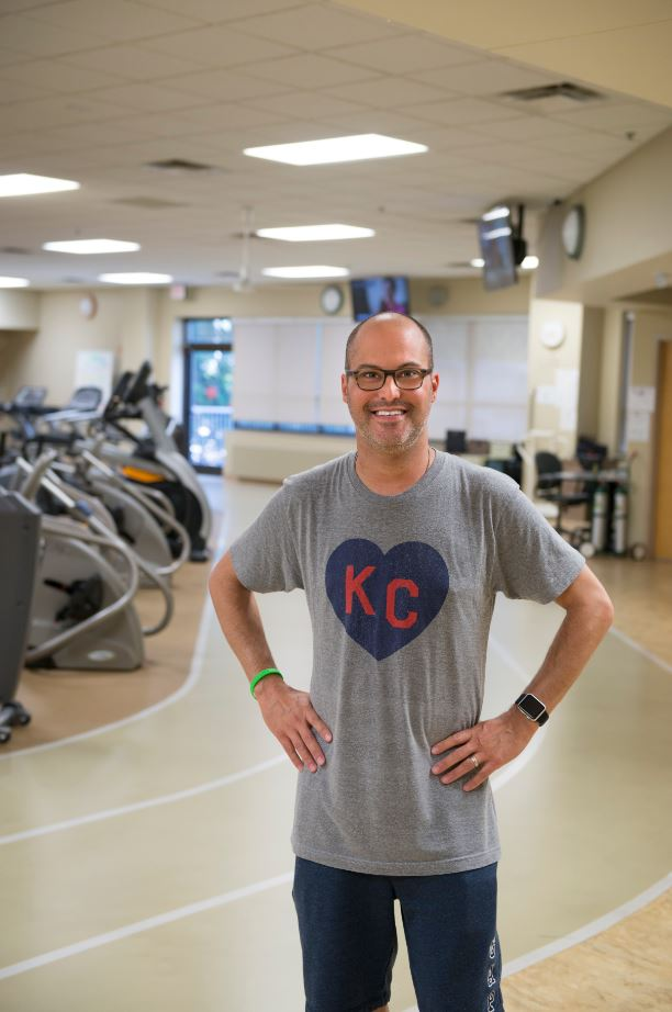 Andrew Widman in cardiac rehab