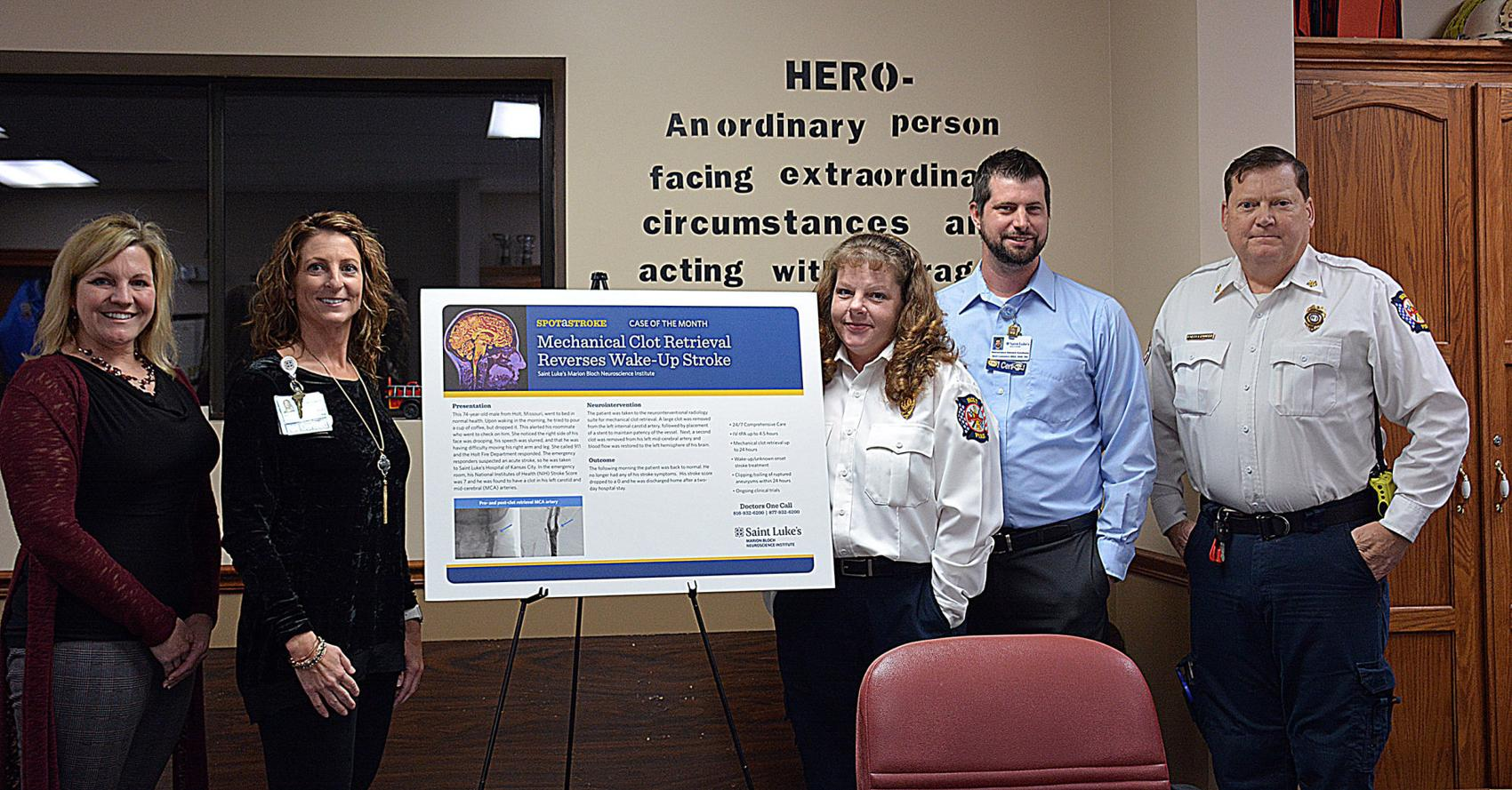Courier Tribune: Hospital Honors Fire District for Stroke Patient Care
