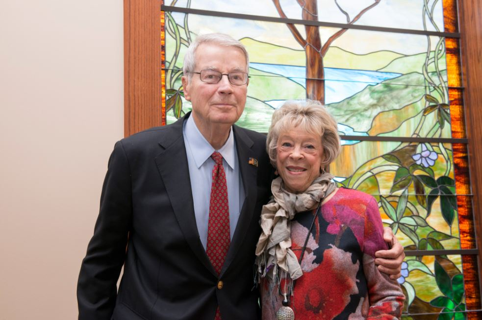 Larry McMullen and Carol Burger hosted the anniversary celebration at Saint Luke's Hospice House