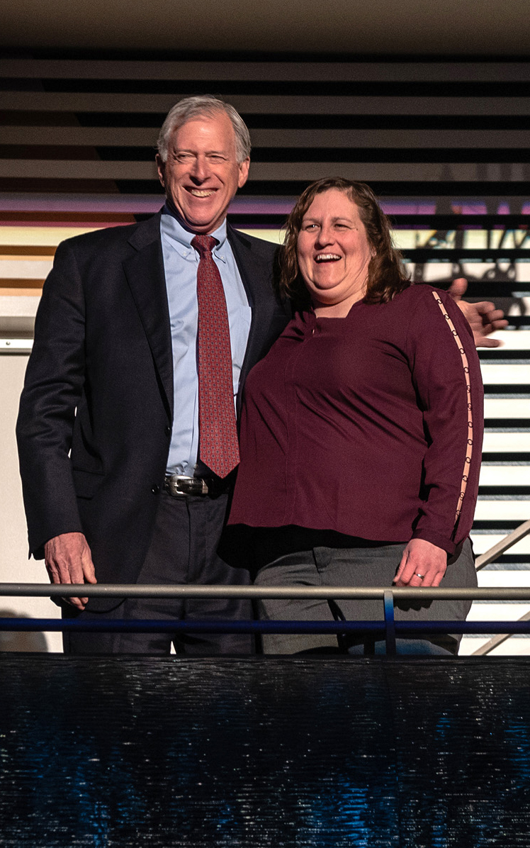 Barb Sheble and Dr. Borkon at Kauffman Center for the Performing Arts Survivor Seat night