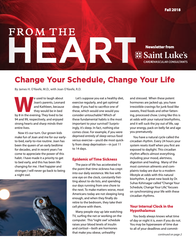From the Heart Newsletter cover