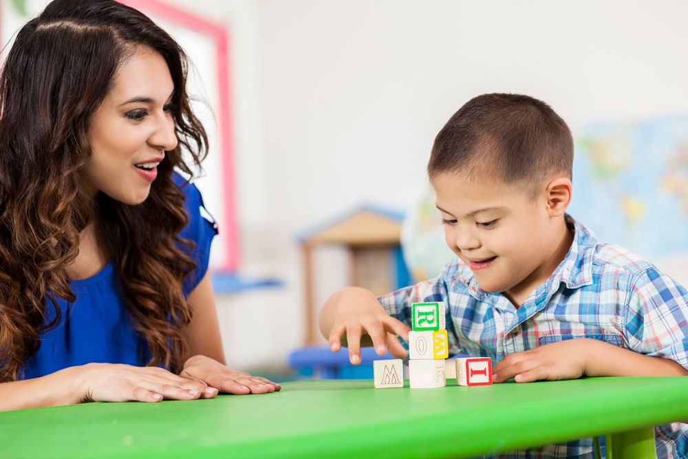 A child uses Occupational Therapy at the Children's SPOT