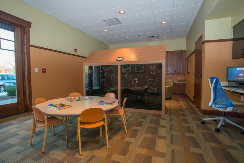 A children area inside Saint Luke's Hospice House