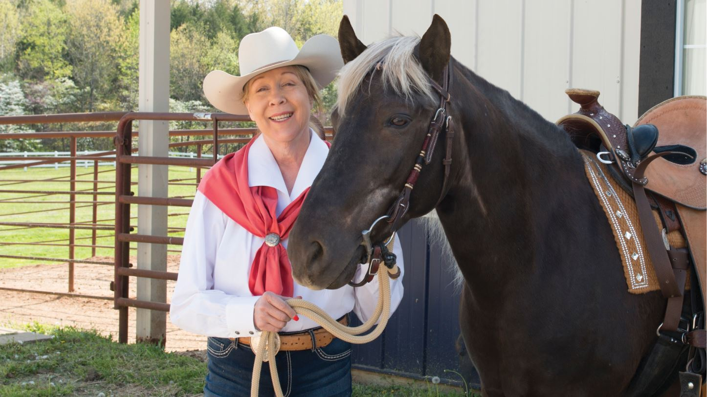 Sallie Wickens and her horse