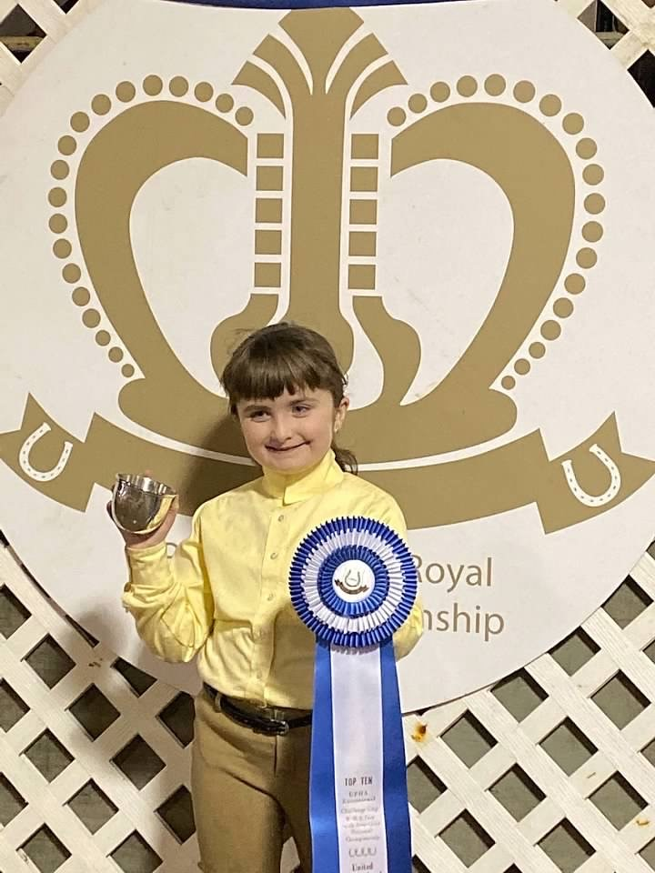 In November 2019, Amelia placed sixth in her division at the UPHA Exceptional Challenge Cup. She received an engraved cup and a beautiful ribbon.