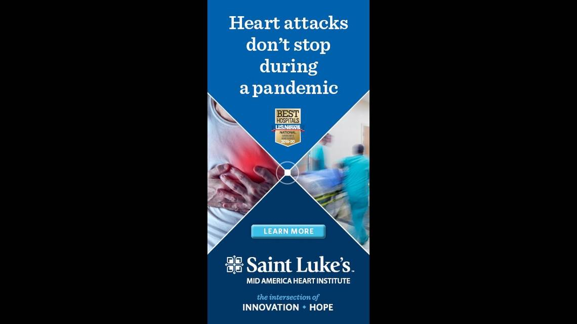 Heart attacks don't stop during a pandemic. Saint Luke's Mid America Heart Institute