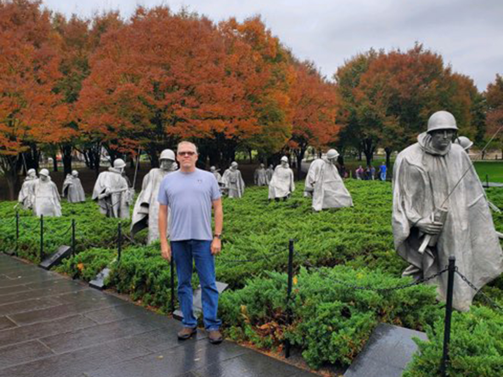David Clifton at the Korean War Veterans Memorial