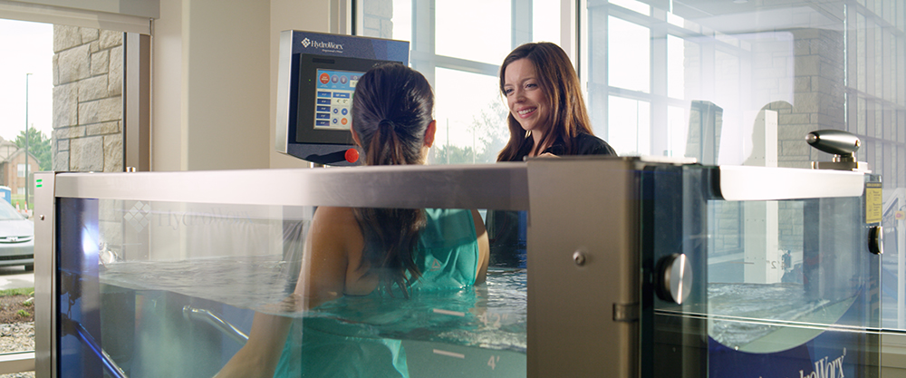 HydroWorx®: This aquatic treadmill uses the natural buoyancy and resistance of water to help patients build muscle through low-impact therapy.