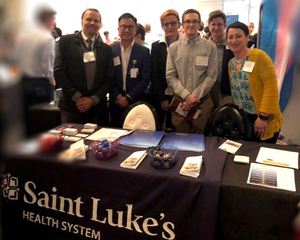Saint Luke's providers at the Transgender Day of Visibility event