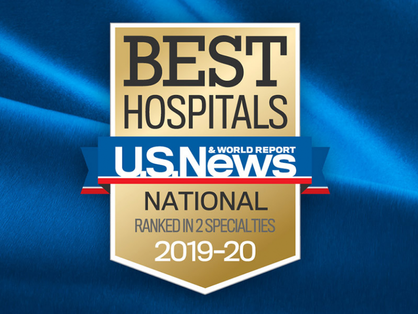 US News & World Report: Best Hospitals National Ranked in 2 Specialties, 2019-20