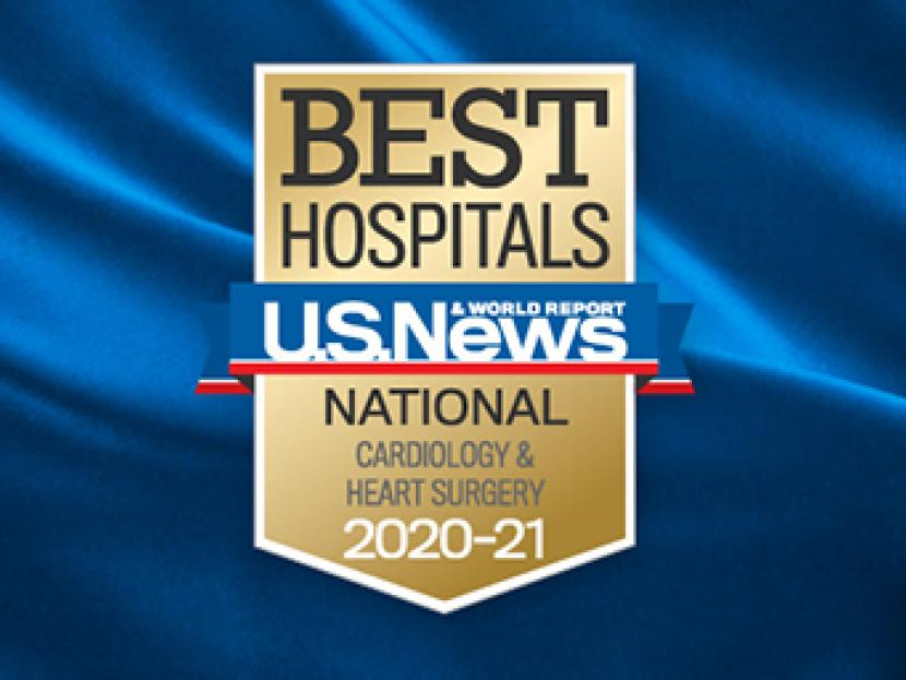 Best Hospitals U.S. News & World Report National Cardiology & Heart Surgery 2020-21