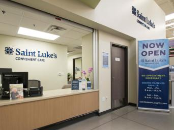 Interior view of a Saint Luke's Convenient Care clinic