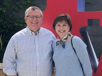 Mark Carr and his wife Mary Beth