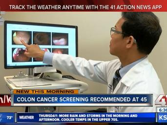 New this morning. Colon Cancer screening recommended at 45. 41 Action News. KSHB.com