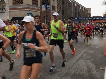 Runners competing in the 9th Annual Plaza 10K
