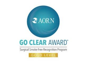 AORN Go Clear Award Surgical Smoke-Free Recognition Program Gold Level