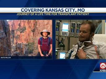 Covering Kansas City, MO. Journey of a lifetime for transplant patient. KMBC 9 abc