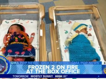 Good Morning America. Frozen 2 on fire at the box office