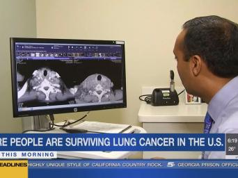 KCTV 5 News. More people are surviving lung cancer in the U.S. New this morning.