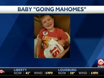 "KMBC 9 abc. Baby ""Going Mahomes"""