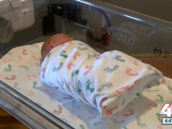 41 Action News. 4:47. 46 degrees. Baby swaddled in hospital crib