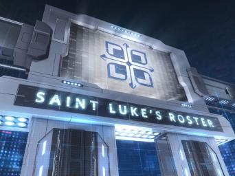 Saint Luke's Roster graphic that looks like a sports theme