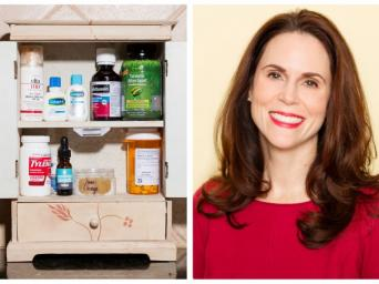 Dr. Bethany Austin and her medicine cabinet