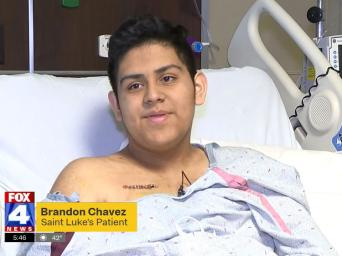 FOX 4 News. 5:46. Brandon Chavez, Saint Luke's patient