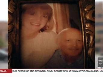 KCTV 5 News. Photo of Sandy Hipsh and his wife, Cindy.