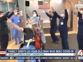 KSHB: Family greets 82-year-old man who beat COVID-19