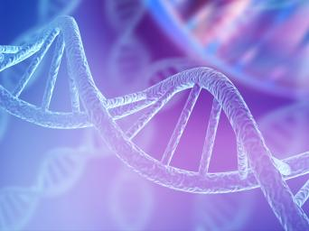 Stock image of DNA strand