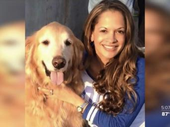 Patient Nichole Lipari with her dog. 41 Action News. KSHB