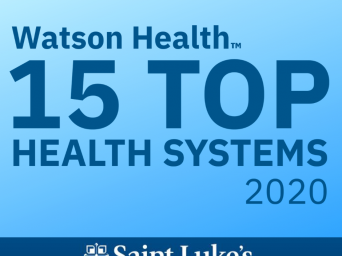 Saint Luke's IBM Watson Top 15 Health Systems 2020