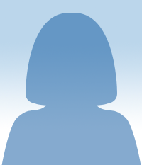 Silhouette of a female figure's head
