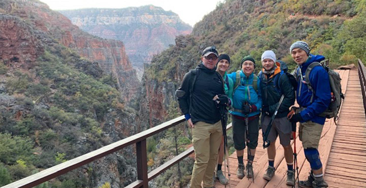 Grand Canyon hunger walk hikers